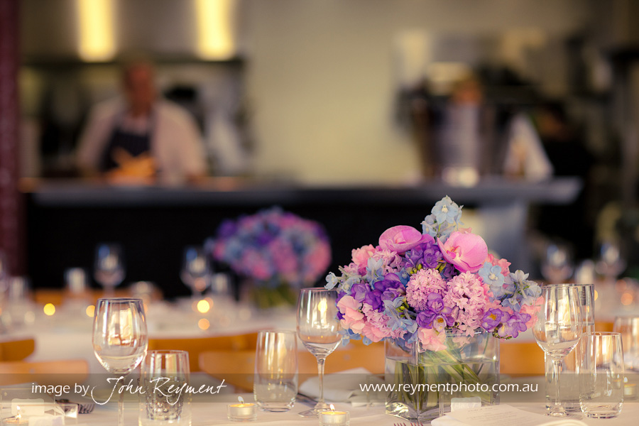 Wedding reception at Philip Johnsons ecco Bistro &amp; Bar, Brisbane wedding photographer, John Reyment