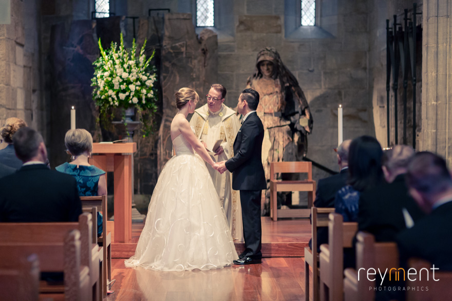 st stephens chapel brisbane wedding ceremony john reyment