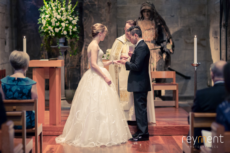 st stephens chapel brisbane wedding ceremony john reyment