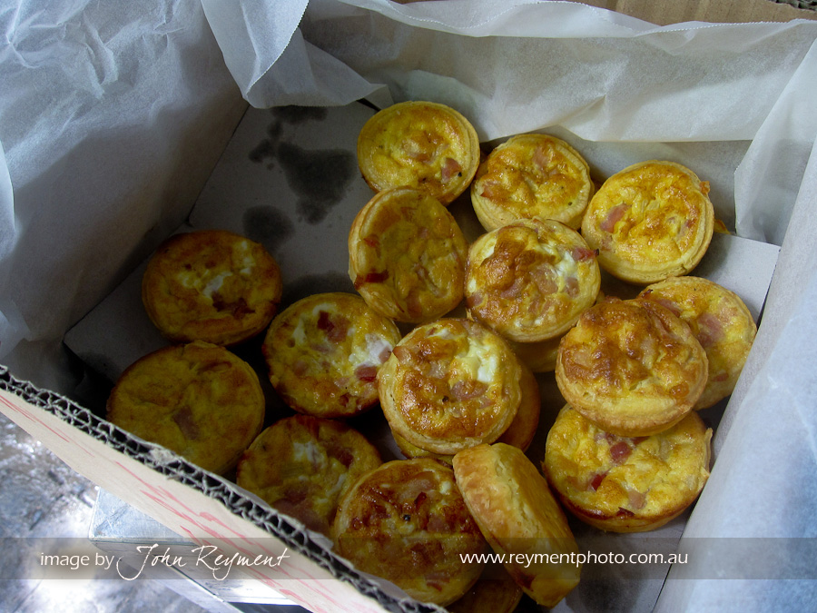 Mini quiches from #bakedrelief, I ate three of these!