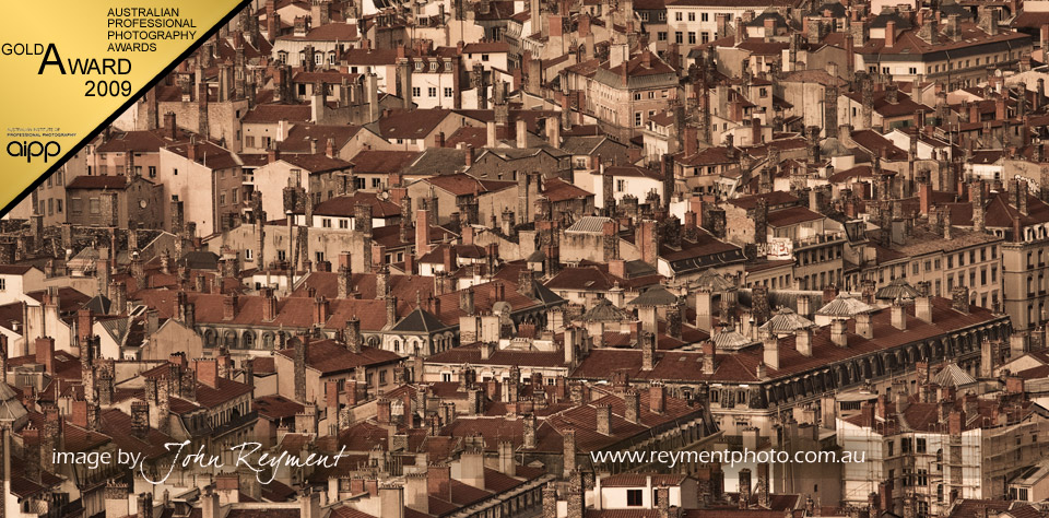 Lyon France from Fourvière Hill by Master photographer John Reyment, Gold award at 2009 Canon APPA's