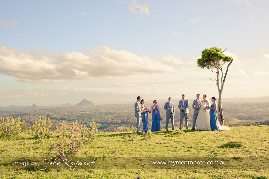 Views of Glasshouse Mountains, Maleny, Sunshine Coast wedding photography, Reyment Photographics, vintage wedding