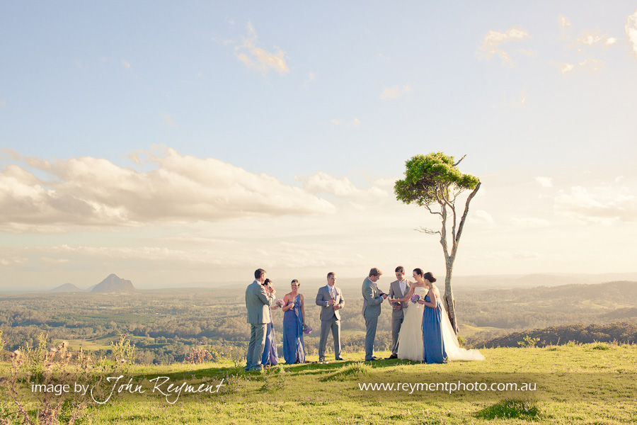 Views of Glasshouse Mountains, Maleny, Sunshine Coast wedding photography, Reyment Photographics, vintage wedding