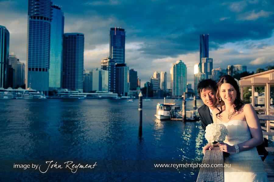 Brisbane River, Kangaroo Point, Brisbane wedding photographer, Reyment Photographics