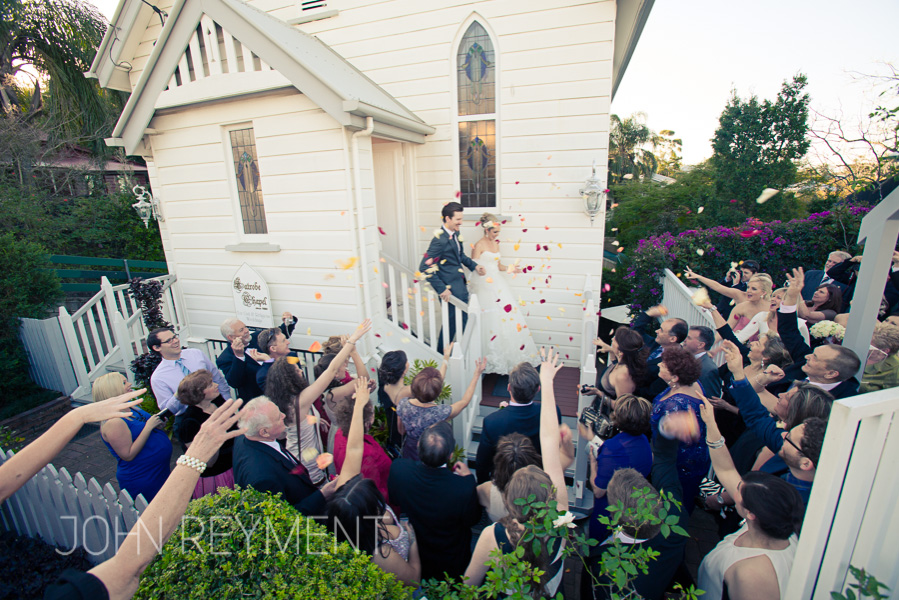 Latrobe Chapel wedding by Brisbane wedding photographer John Reyment