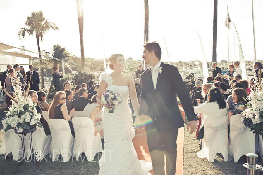 Royal Queensland Yacht Squadron wedding by Brisbane wedding photographer John Reyment