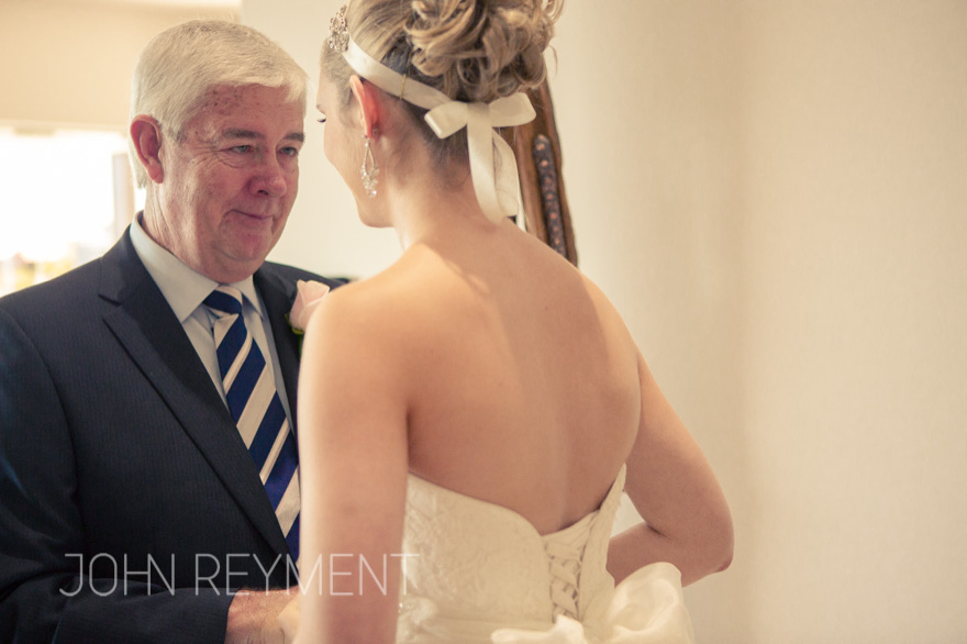 bride & father of the bride by Coorparoo wedding photographer John Reyment
