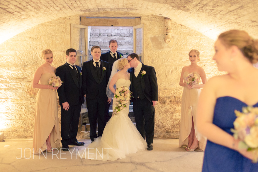 wedding photos in the wine cellar at Old Government House, George Street Brisbane